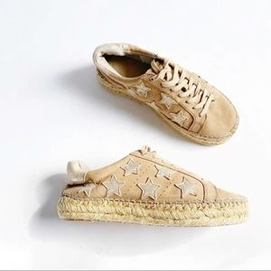 Marc Fisher Marcia star Leather espadrille sneaker